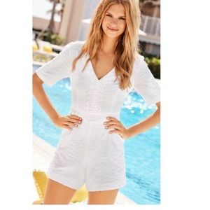 Lilly Pulitzer ZINA romper white fully lined